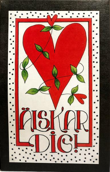 Presentask med choklad  'Älskar Dig'