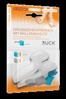 RUCK® AVLASTNING Smartgel plug+switch, stortåspridare med Hallux Vallgus-skydd (2 st)