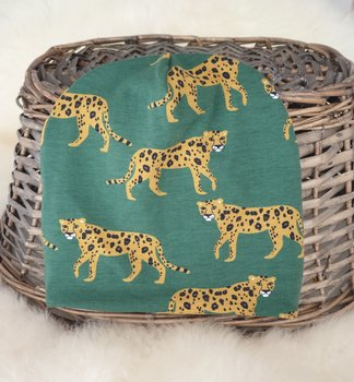 Mössa grön leopard stl 2-3 år