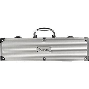 Grillset i aluminium väska
