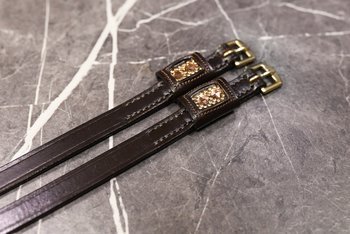 Spur straps  with Swarovski Gold