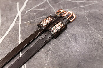 Spur straps  with Swarovski Rosé
