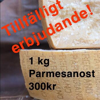 ERBJUDANDE! 1 kilo Parmigiano-Reggiano DOP 30mesi