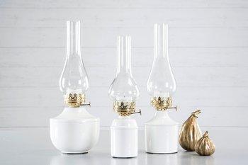 Lampa/Värmeljus Iris Emalj Vit