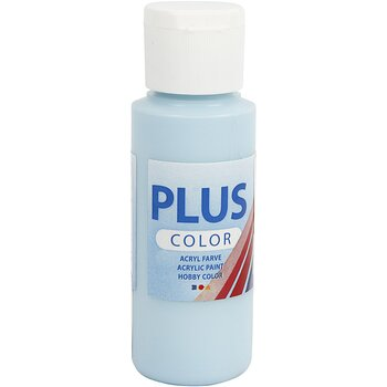 Plus Color Hobbyfärg, Isblå, 60 ml, 1 Flaska