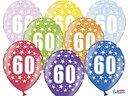 Ballonger 30cm, 60 år , Metallic Mix