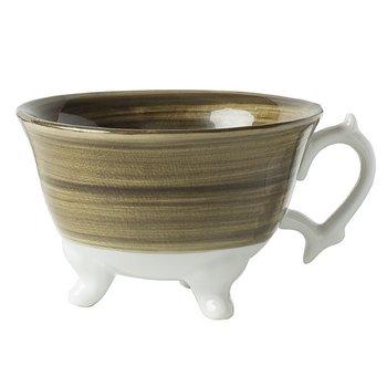 Milk kopp på fot brun