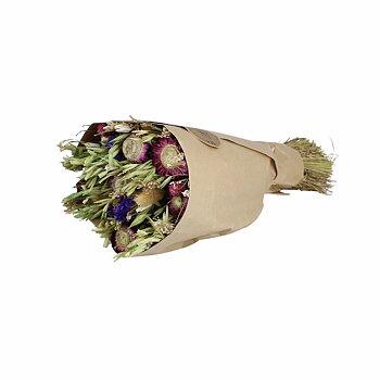 Torkad Blomsterbukett Lila