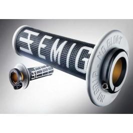 Handtag Lock-On ODI EMIG (vit-svart)