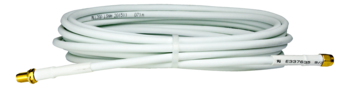 Kabel, SM-5, SMA hona-SMA hane, 5 meter RG-58 Vit