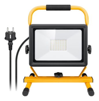 Goobay LED work light with stand, 50 W, black-yellow, 1.5 m, Standing