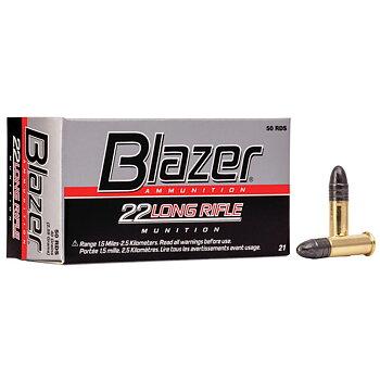 BLAZER RIMFIRE AMMUNITION 22 LR LRN 40GR