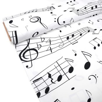 BIG MUSIC NOTES - WHITE