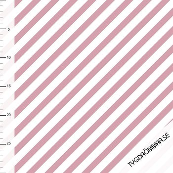 DIAGONAL STRIPE - OLD ROSE/DARK OLD PINK