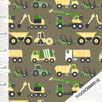 CONSTRUCTION VEHICLE - DARK VINTAGE GREEN