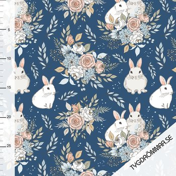 GARDEN BUNNIES - DARK BLUE
