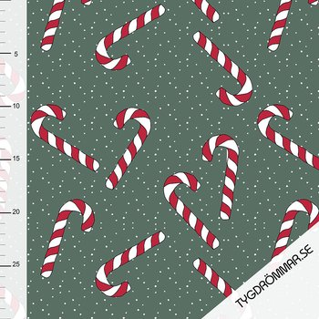 CANDY CANE - FOREST GREEN