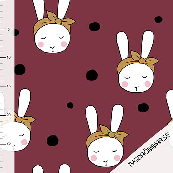 0,5M - BUNNIE WITH BOW - MAROON