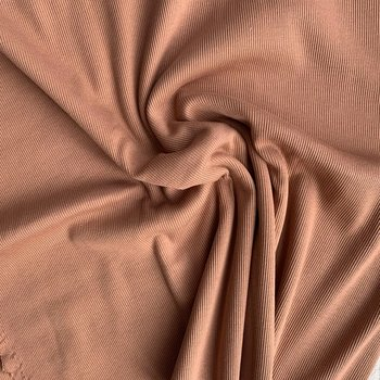 RIBBAD JERSEY - PECAN BROWN
