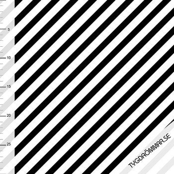 DIAGONAL STRIPE - BLACK