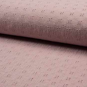 MUSLIN EMBROIDERY - DUSK PINK
