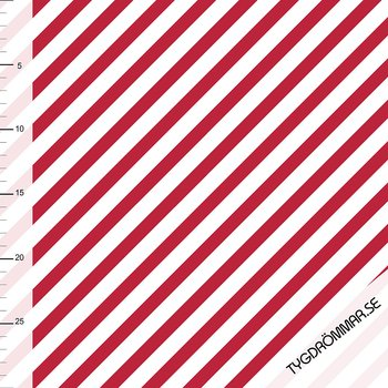 DIAGONAL STRIPE - DARK RED