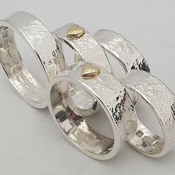 Älvkarleby ringen med hjärta av äkta guld