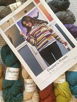 Randig tröja i Dagmar, garn- och mönsterkit