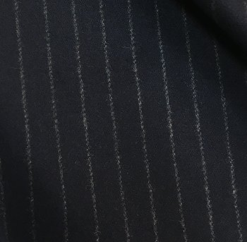 Marinblå Kostym Ylle Kritstreck