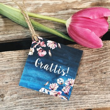 "Card with hanger ""Grattis"""