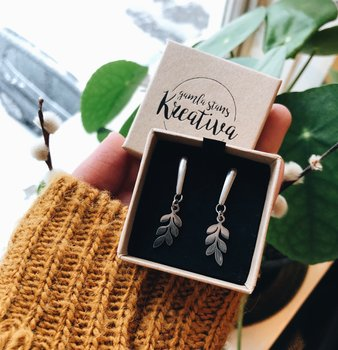 Earrings Leaf long