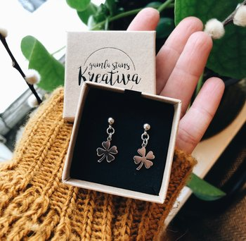 Earrings 4-Leaf Clover