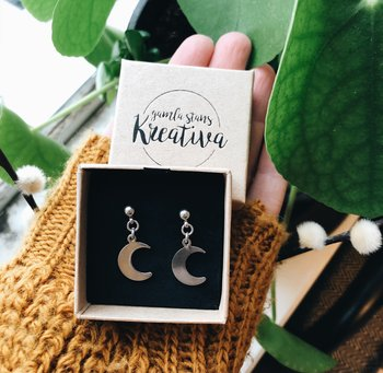 Earrings MOON studs