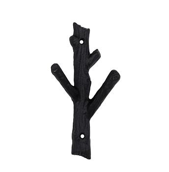 "Hook ""twig"" black iron"