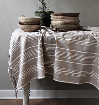 "Tablecloth ""Stripes"" from Majas Cottage"