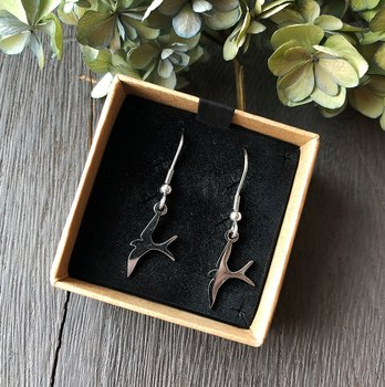 "Earrings ""Bird"" steel"