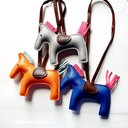 SOMEH HORSE BAG CHARM - Blue-Orange.Grey