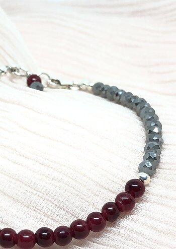 Granat armband med kristaller