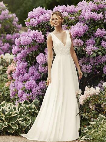 Brudklänning med A linje