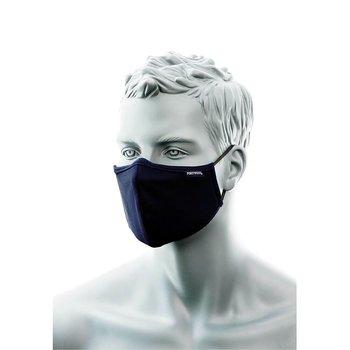 Portwest Antimikrobiell ansiktsmask med näsband marinblå