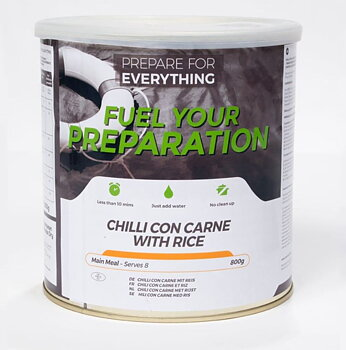 Fuel your preparation - Chilli con carne med ris - 8 portioner