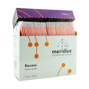 NADA-nål från Meridius, Färgat plasthandtag, 0,22*13 mm, 1000 st
