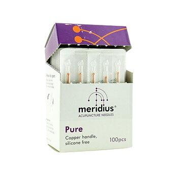Akupunkturnål, PURE från Meridius, med kopparskaft och utan silikon, 0,25mm*30 mm, 100 st