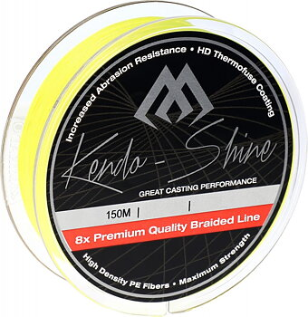 Mikado Kendo Shine Braided Line  150 m Fluo Yellow