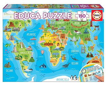 World Map Animals 150 Educa®
