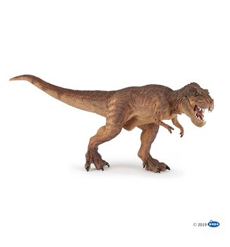 Tyrannosaurus Rex (brun) springande