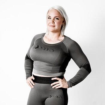 Långärmad t-shirt SEAMLESS , ljusgrå