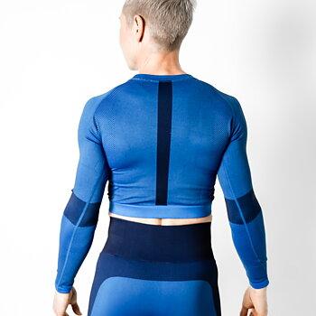 Långärmad t-shirt SEAMLESS , Super hero blå