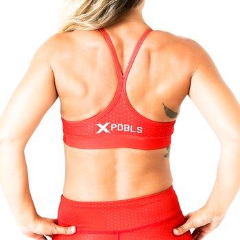 Sport BH -  skinny strap - HEX Röd