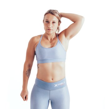 Sport Bra  - skinny strap - HEX Light grey